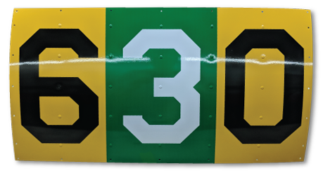 Hand-Made Replica Tail Number Sign